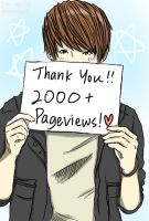 2000+ Page Views! by Jin-tan