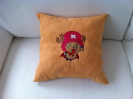 Chopper Pillow Custom Embroidery by Kavel-WB