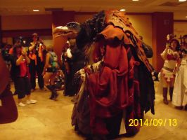 2014 Dark Crystal Skeksis Side View 2 by MayFeather