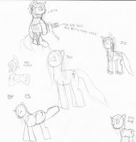 Character draft Sketch dump :Ice by WoefulWriters