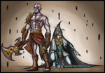 Commission - Kratos and Midna by Luminanza
