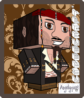 Jack Sparrow Cubeecraft by angelyques