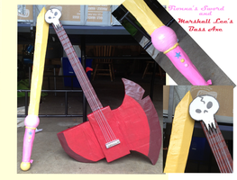 Marshall's Bass and Fionna's sword by Ciaxlia