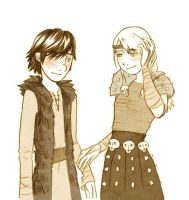 Hiccup and Astrid by Marine-chan