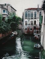 Venice Painting by Johdie