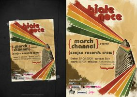 Biale Noce party poster by touchdesign