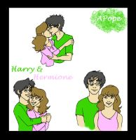 Harry and Hermione sheet by MandiPope