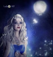 Princess in the light of the moon by Lada-KR