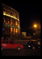 Colosseum and Car by penguinluv4ever