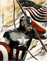 Captain America Color by CartoonCaveman