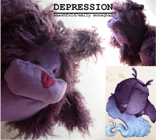 Depression: the Real Monster plushie! by smashfold