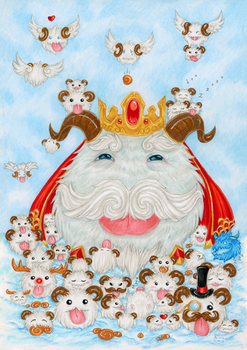 League of Legends: Tons of poros by ArunaWolf