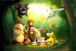 Picnic in the Woods by arkeis-pokemon