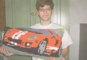 Crochet Ford Pillow by jetsmillion