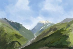 Colour Study 1-Mountain Doodle by JessiJellibean