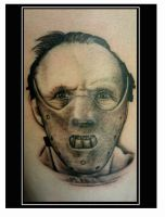 Hannibal Portrait Tattoo by kayden7