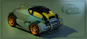 Bulky Coupe frontview by aconnoll