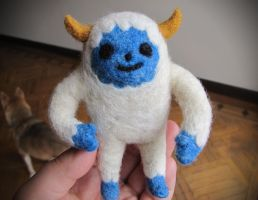 Yeti Needle Felt by nekofoot