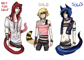 Neko Boy Adoptables [CLOSED] by strxbe