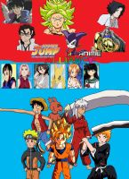 Anime and Shonen Jump Alliance by SuperSaiyanCrash