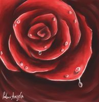 Rose - speed paint by FadwaAngela
