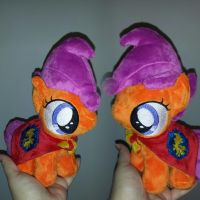 MLP 7in filly Scootaloo w/CMC cape - BronyCon '15 by RubioWolf