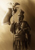 Roman soldier by Barbeanicolas