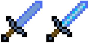 Minecraft Frozen Swords by DBZ2010