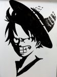 Luffy in my whiteboard by Felix-Alvarez