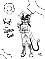 Kor the Demon Cat by jamiethehedgehog737