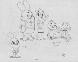 Gumball family by davidcool1989