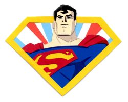 Superman Shield Paper Cutout by say-andy