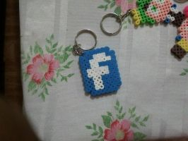 logo facebook perler beads by kiri-chan1990