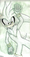 Silver the hedgehog by Mari-Limmy