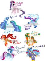 Unicorn Pony Adoptables1 by Sakuyamon