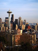 seattle and needle by crazytmac