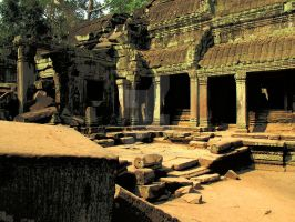Temple of Ta Phrom by gatonegro2551
