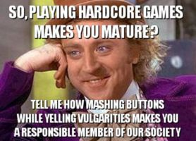Condescending Wonka - Hardcore Gamers by RBM-Ink