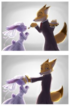 Here's your wedding cake, carrots by unknownlifeform