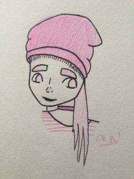 Pink Beanie by Weird-Art-McNugget