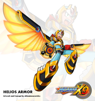 Megaman X9 - Helios Armor by ultimatemaverickx