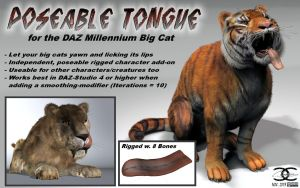 Big Cat-Tongue for DAZ MilBigCat by ancestorsrelic
