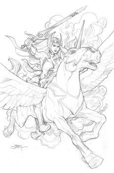 He-Man and the MofU #1 She-Ra Variant Cover by TerryDodson