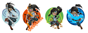 Korra charms by SmokinRainbow