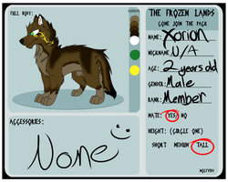 The Frozen Lands Form: Xorion by Obsidianthewolf