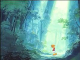 In the forest.:Rayman: by amberday