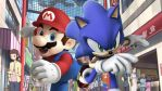 Mario and Sonic in anime mall. by simpsonsquire