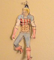 Paper Child: Captain America by platrypus