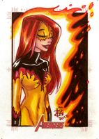 Avengers Sketch Card Set 9 by mainasha