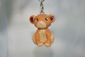 Simba Plushie Polymer Clay Charm by puddingfishcakes